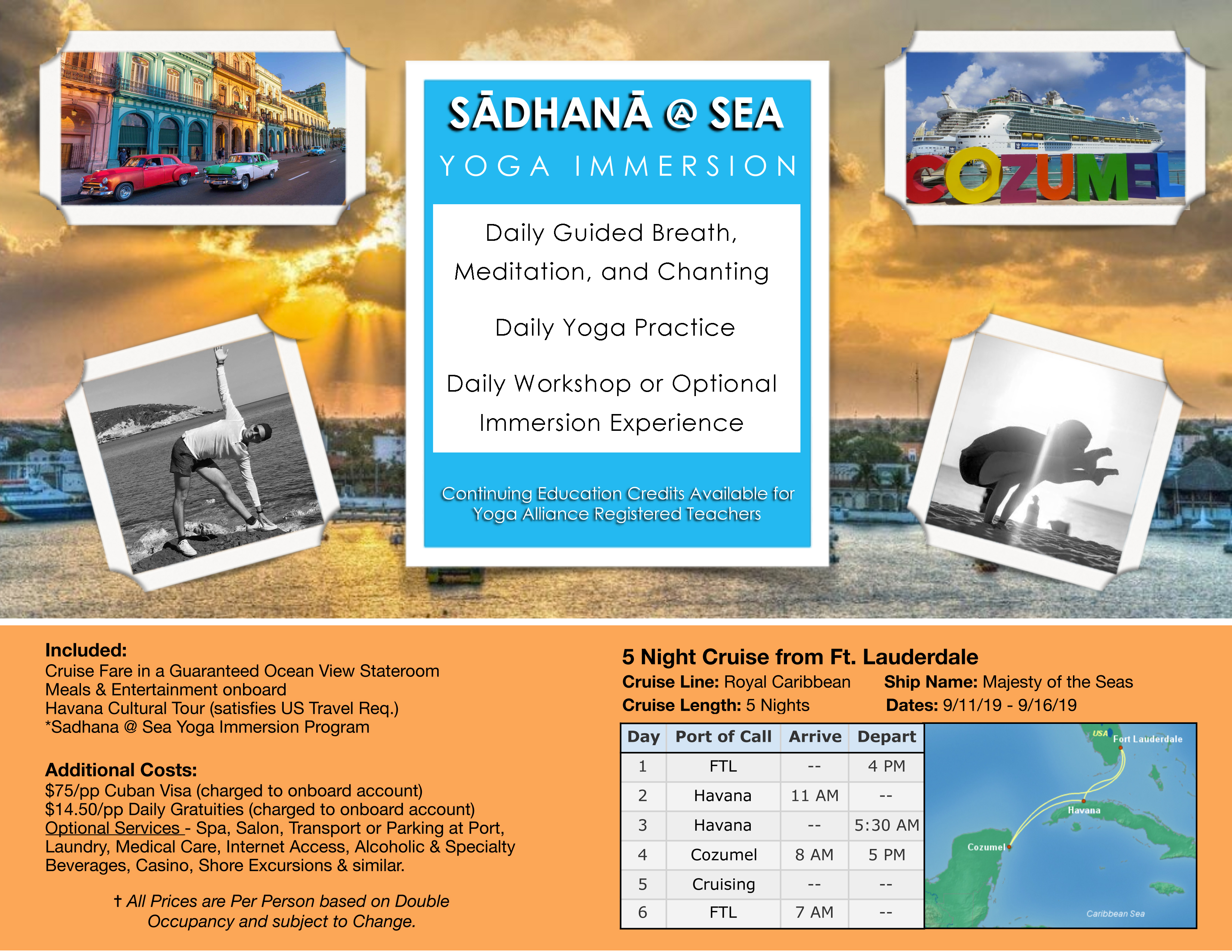 Yoga Cruise for Healthy Lifestyle